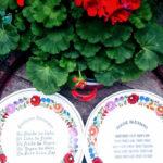 kézzel festett kalocsai porcelán tányér